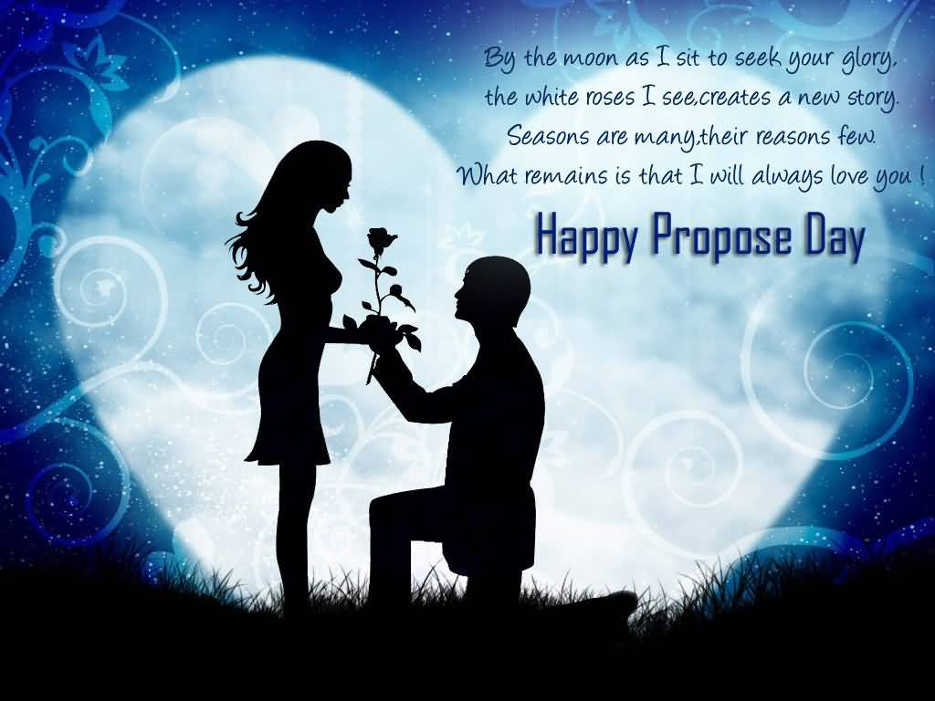 40 most beautiful propose day 2017 greeting cards what remains is that i will always love you happy propose day greeting card kristyandbryce Images