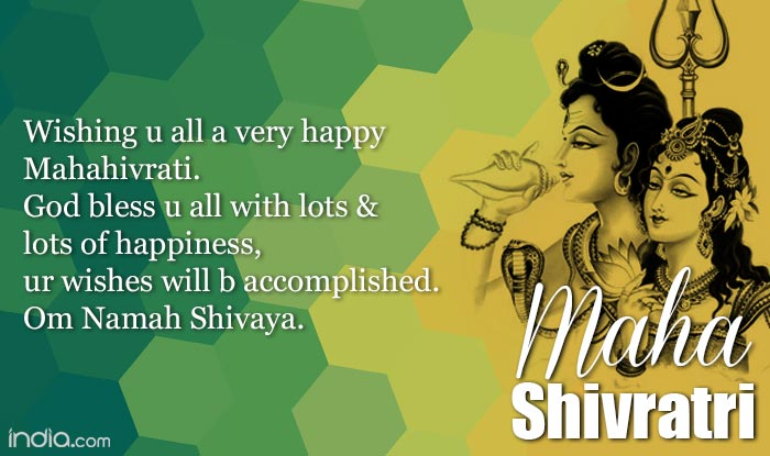 wishing you all a very happy mahashivratri god bless you all with lots lots of happiness