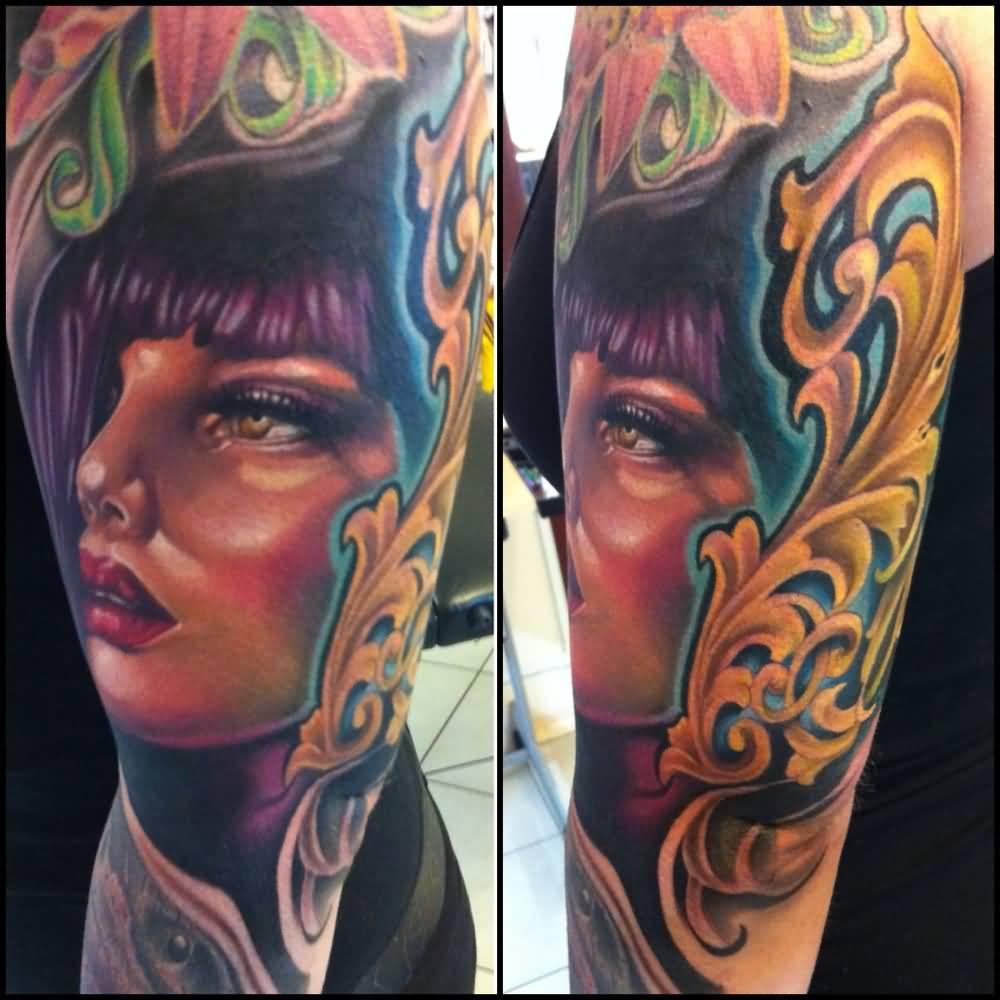 Face Sleeve Tattoo: Tattoos For Women