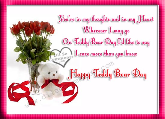 Images Of Flowers And Teddy Bears With Quotes | www ...