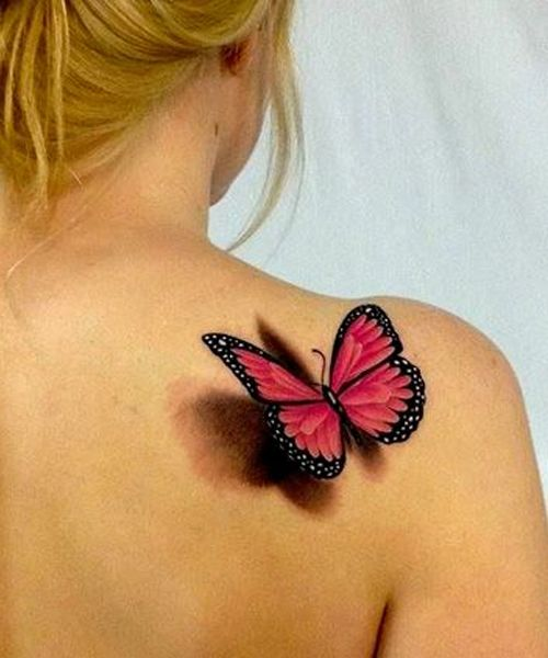 57 Awesome Quotes Shoulder Tattoos: 35+ Awesome Butterfly Tattoos For Girls