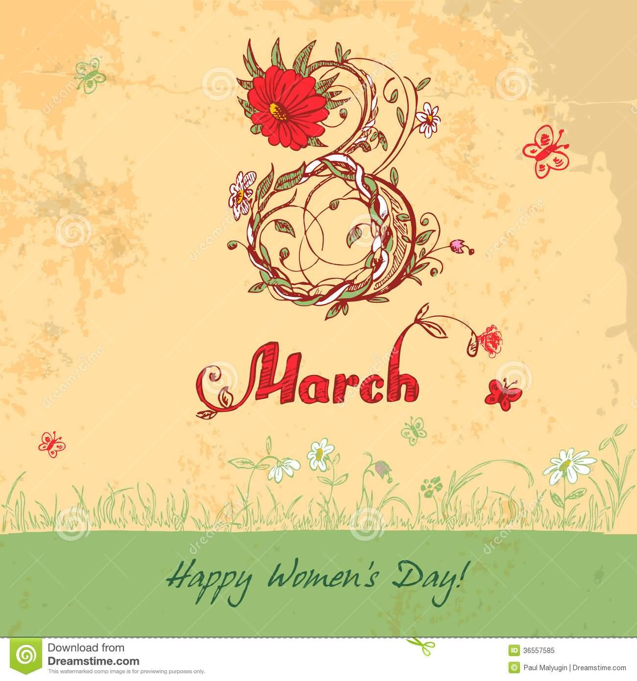 30 best womens day greeting card 8 march happy womens day vintage greeting card kristyandbryce Choice Image