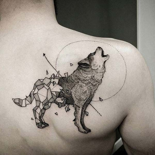 20 Wolf Tattoos Ideas For Shoulder