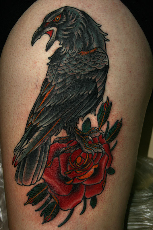 42  amazing crow tattoos designs and pictures ideas