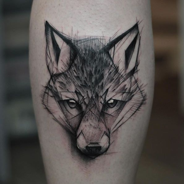 46 unique wolf head tattoos ideas for Tattoos on side of head