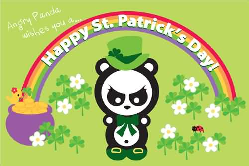 Angry Panda Wishes You A Happy Saint Patrick's Day