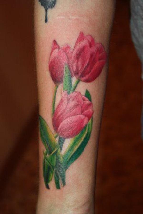 dee4b08e64810 30+ Dutch Tulip Flowers Tattoos Collection