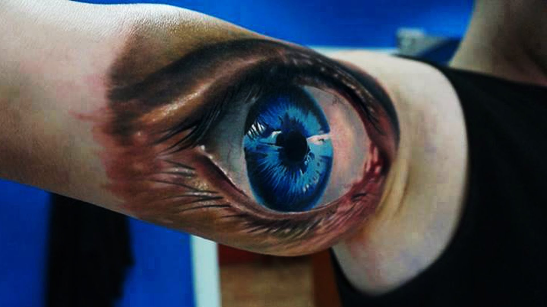 52 best 3d tattoos design and ideas for Cross tattoo under eye