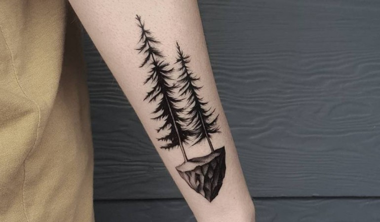 47+ Best Pine Tree Tattoos Design And Ideas