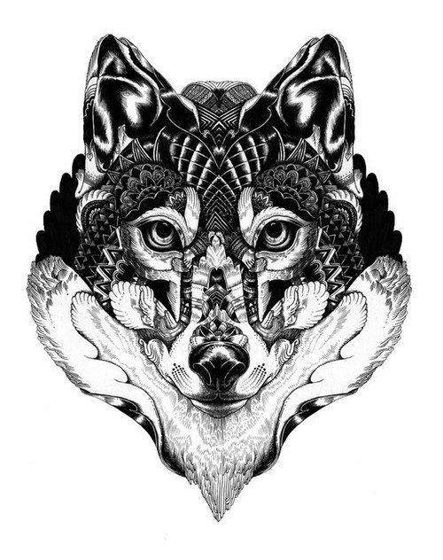 30+ Mandala Wolf Tattoos Designs Collection