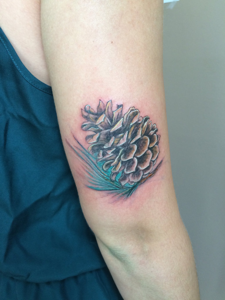 Half sleeve tattoos for Pine cone tattoo