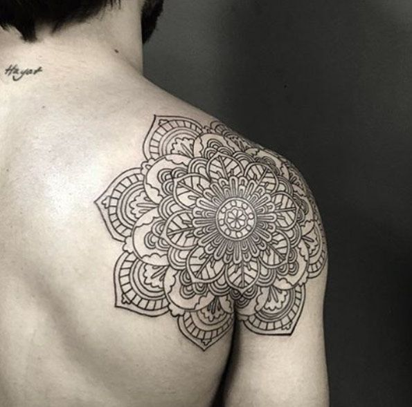 Back Shoulder Mandala Tattoo