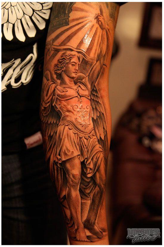 24 archangel michael tattoos on forearm. Black Bedroom Furniture Sets. Home Design Ideas