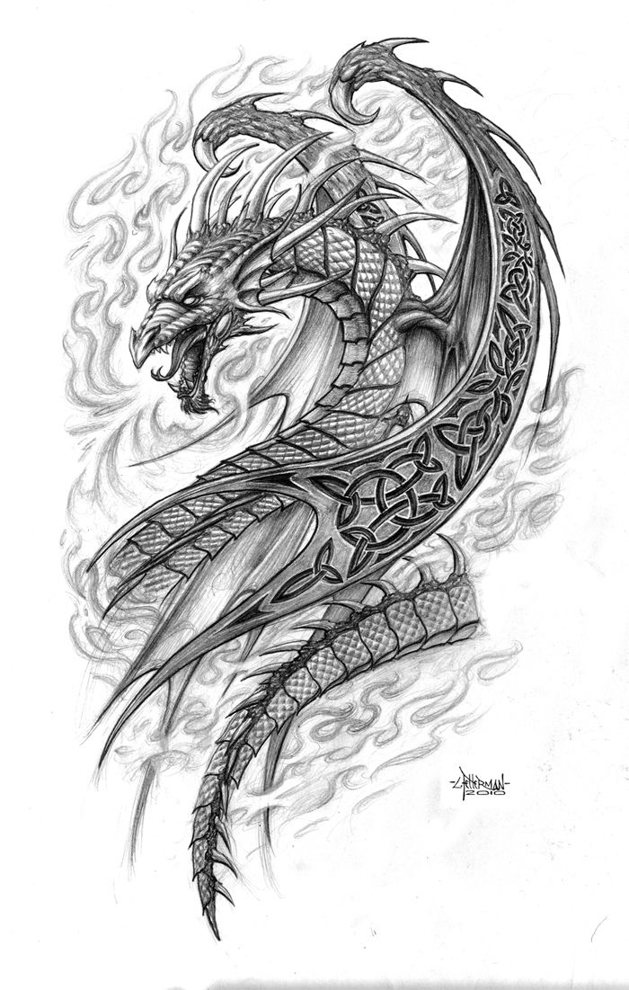 55 best dragon tattoos designs collection for Black and grey tattoo designs