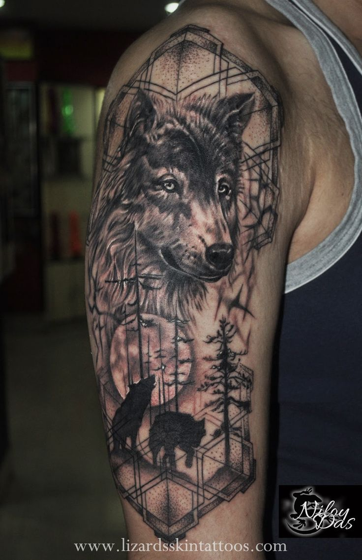 black wolf tattoo - photo #23