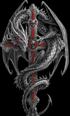 55 dragon cross tattoos designs and pictures. Black Bedroom Furniture Sets. Home Design Ideas