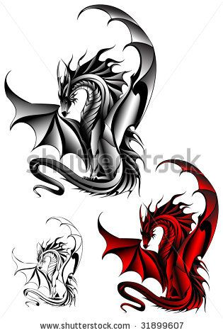 55 best dragon tattoos designs collection. Black Bedroom Furniture Sets. Home Design Ideas