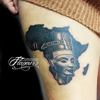 42 best african tattoos design and ideas for Black african queen tattoos