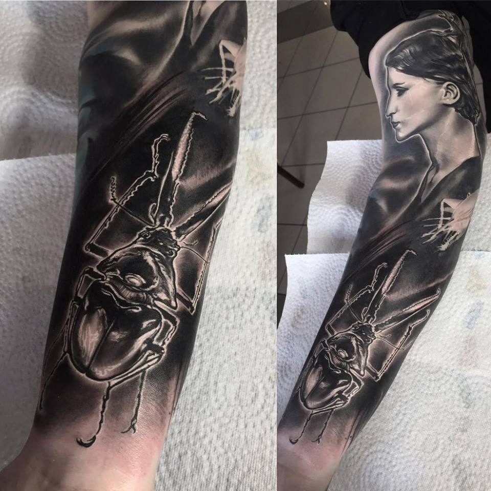 Women with tattoo sleeves images for tatouage for Full head tattoo