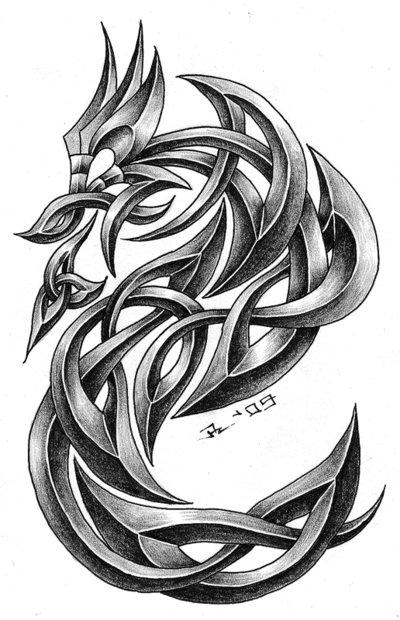 19 celtic dragon tattoos pictures and designs. Black Bedroom Furniture Sets. Home Design Ideas