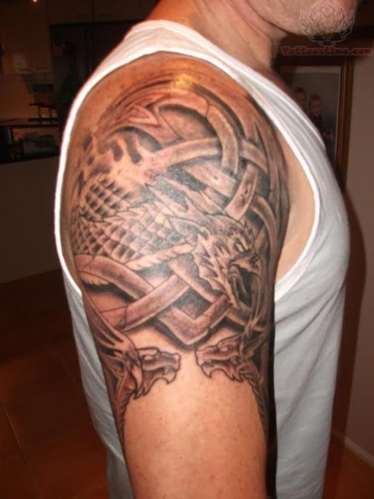 65 dragon tattoos on shoulder