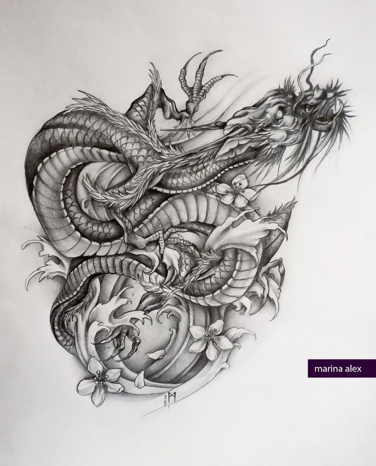 Dragon Tattoo With Flowers: 55+ Best Dragon Tattoos Designs Collection
