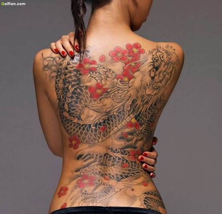 57+ Dragon Tattoos On Full Back