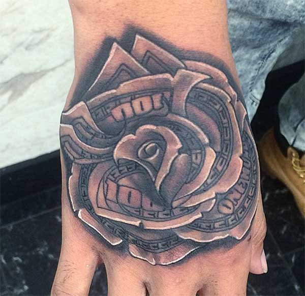 38+ Awesome Money Rose Tattoos Ideas