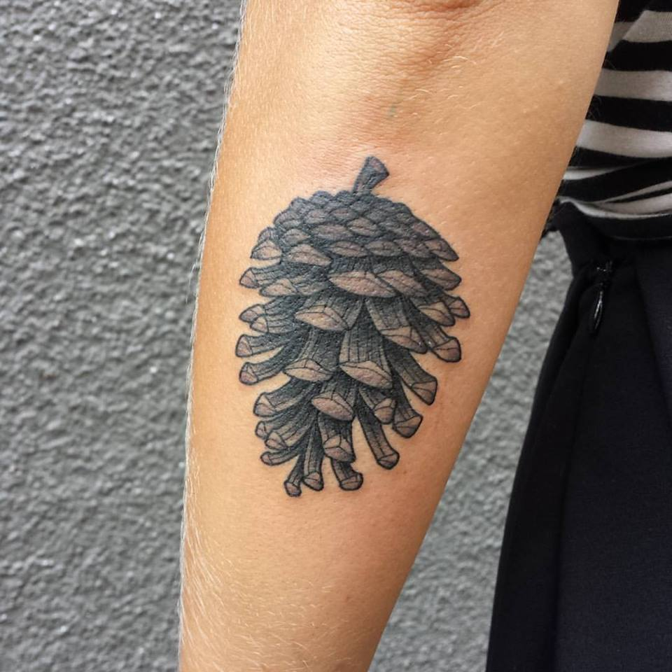 50 pine cone tattoos design and ideas