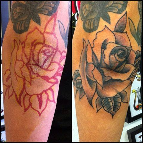 Rose tattoos for Chris martin tattoos