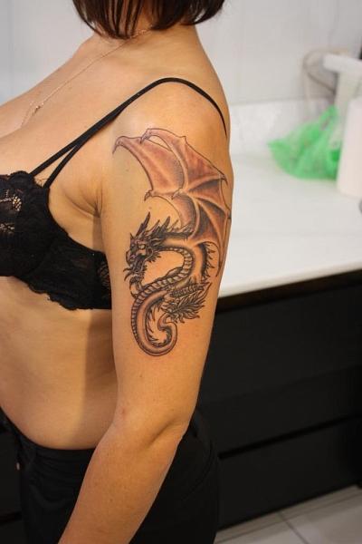54 Women Dragon Tattoos Collection