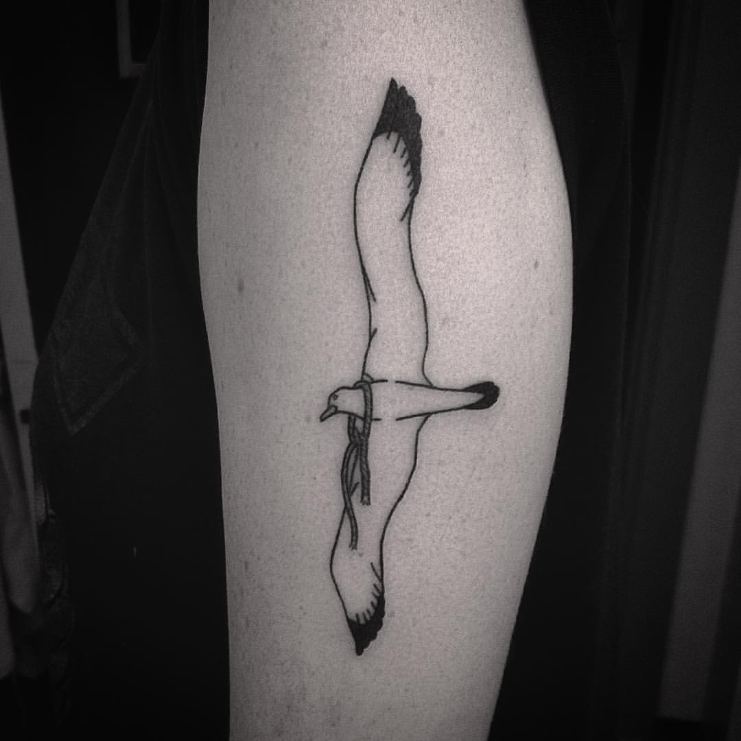 Albatross Tattoo Design