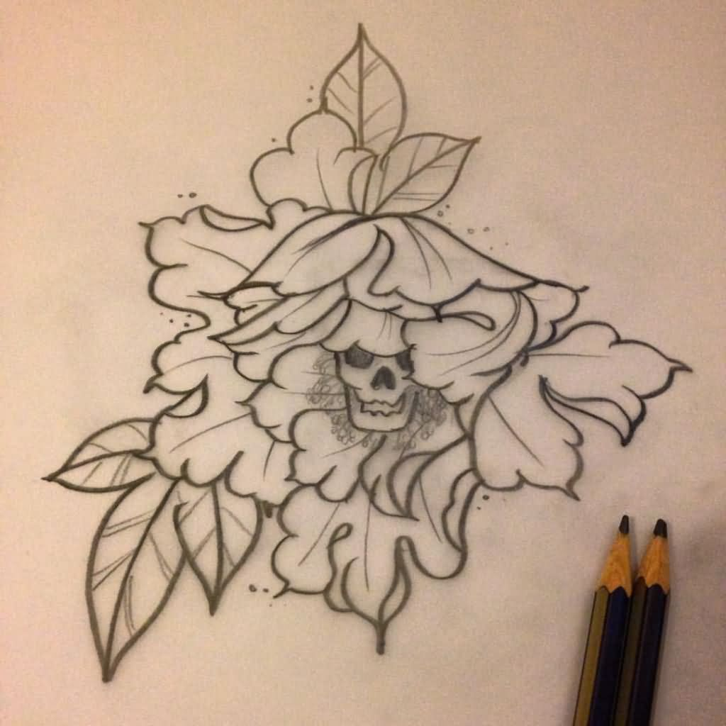 Tattoo Designs Outline: 33+ Amazing Peony Outline Tattoos