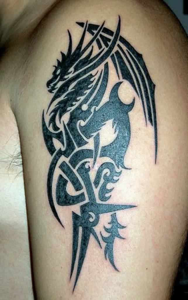 48 Dragon Tattoos On Men Half Sleeve