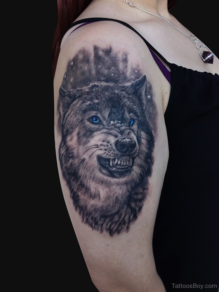 46 unique wolf head tattoos ideas. Black Bedroom Furniture Sets. Home Design Ideas