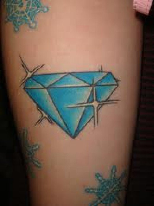 44 diamond tattoos designs and pictures collection for Tattoos of diamonds