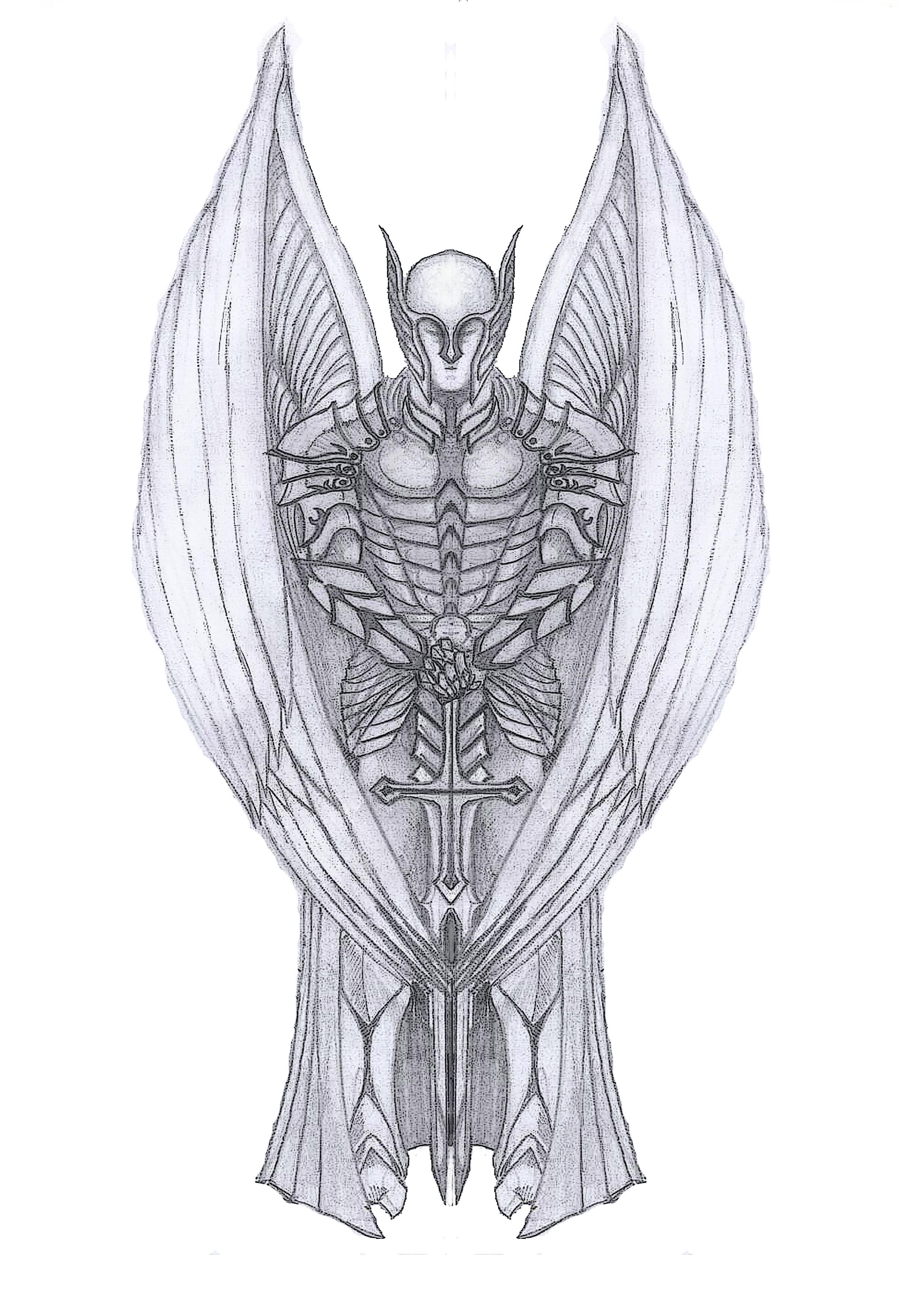 20 latest archangel michael tattoos designs. Black Bedroom Furniture Sets. Home Design Ideas