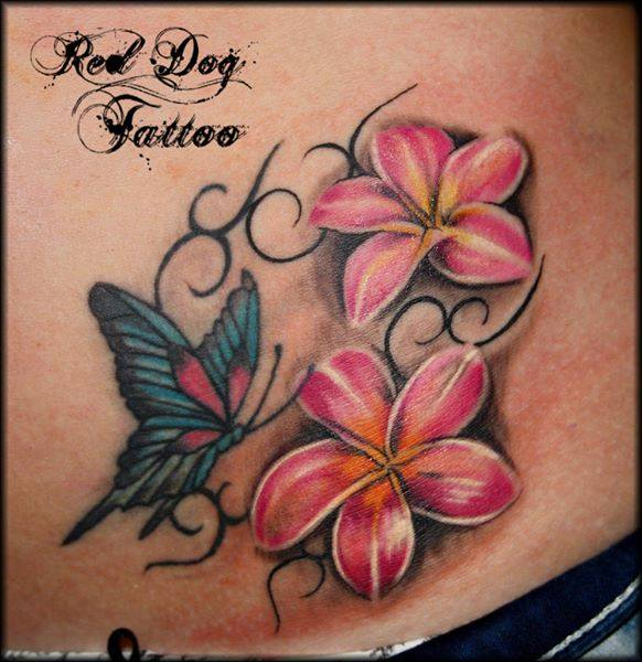 colorful butterfly tattoo design idea