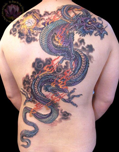 57 dragon tattoos on full back for Dragon back tattoo