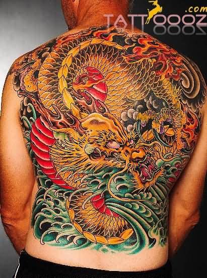 57+ Dragon Tattoos On Full Back