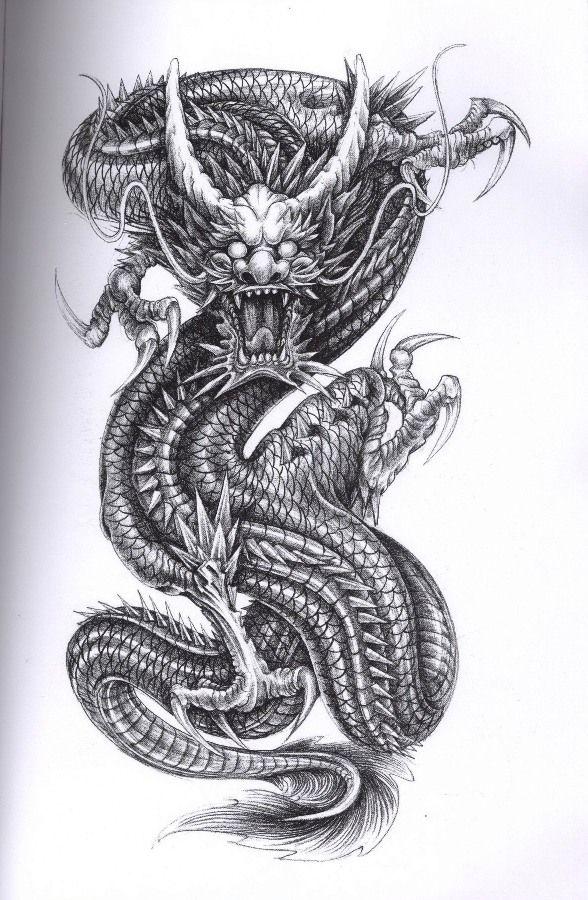 28 japanese dragon tattoos designs. Black Bedroom Furniture Sets. Home Design Ideas