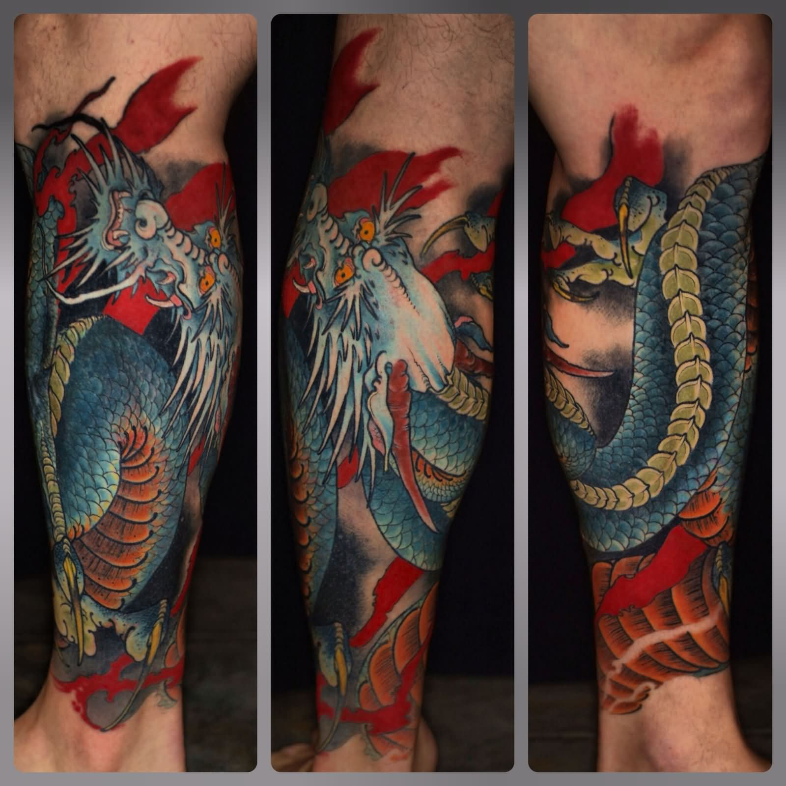 Dragon Tattoos: 61+ Dragon Tattoos Ideas For Leg