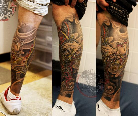 Tattoo Ideas On Leg: 61+ Dragon Tattoos Ideas For Leg