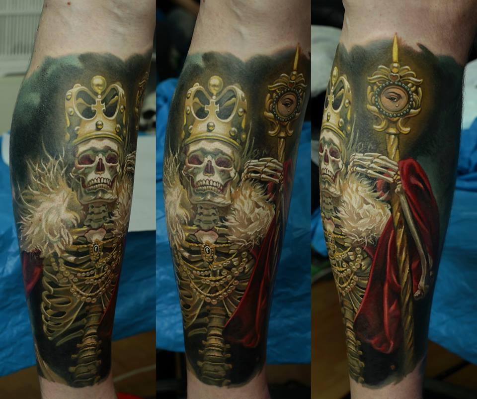 Skeleton tattoos for Skeleton king tattoo
