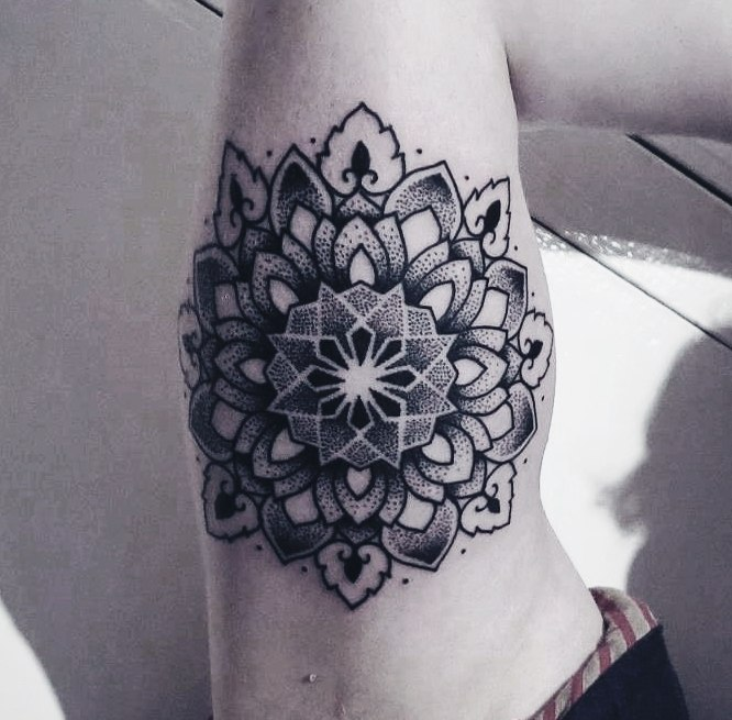 Inner Elbow Mandala Tattoo: 35+ Beautiful Mandala Tattoos Collection