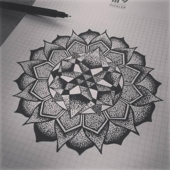 Dotwork Mandala Tattoo Design