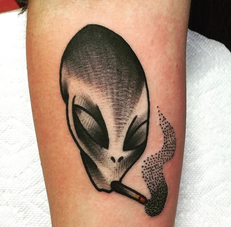 Alien Tattoos Designs Ideas And Meaning: 55+ Best Alien Tattoos Design And Ideas