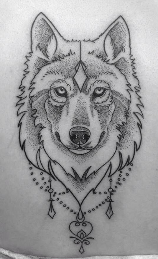 9ece98c16e774 Dotwork Wolf Head Tattoo Design