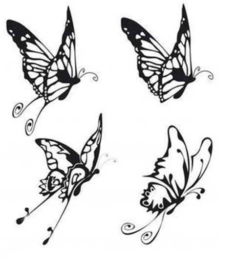 53 amazing butterfly tattoos designs. Black Bedroom Furniture Sets. Home Design Ideas