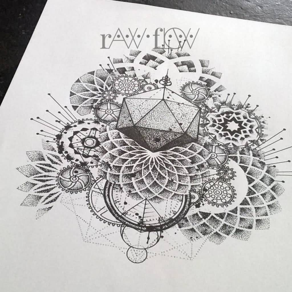 Geometric Mandala Tattoo Design